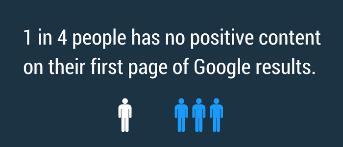 You need to have positive content showing when other people are searching your name online.